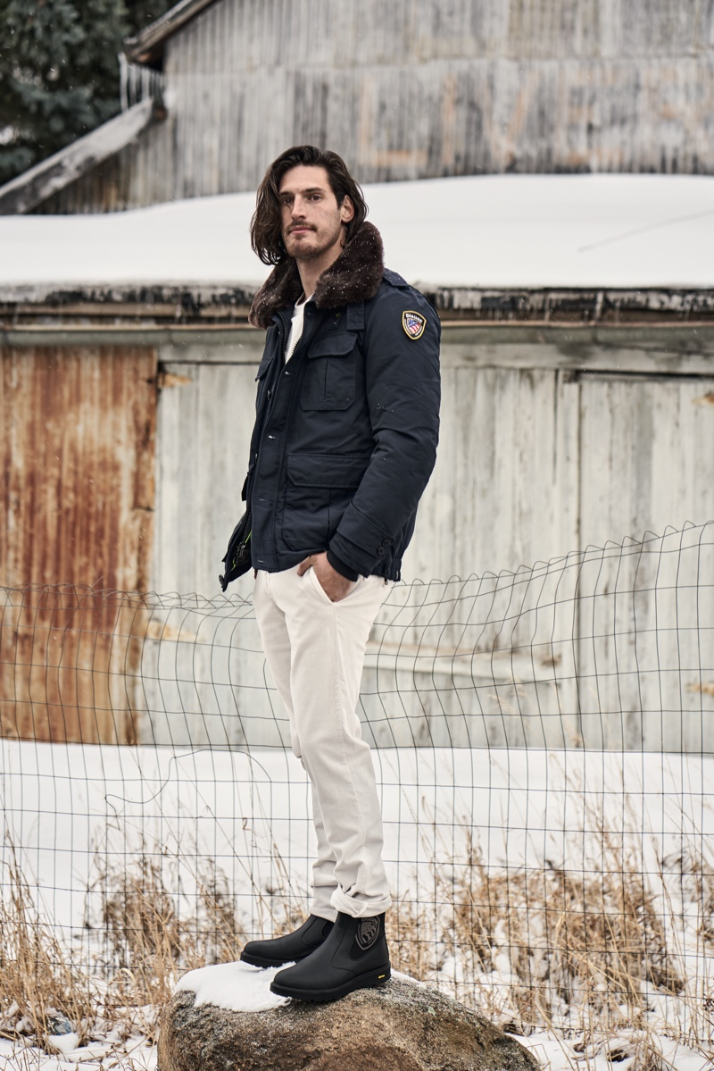 Visiting Nederland, Blauer USA puts the spotlight on its Murrey police jacket as part of its fall-winter 2019 campaign.
