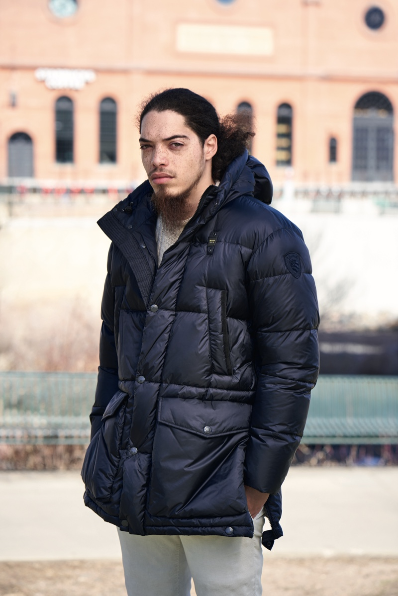 Heading to Denver, Colorado, Blauer USA introduces a local to its Robertson iridescent down jacket.