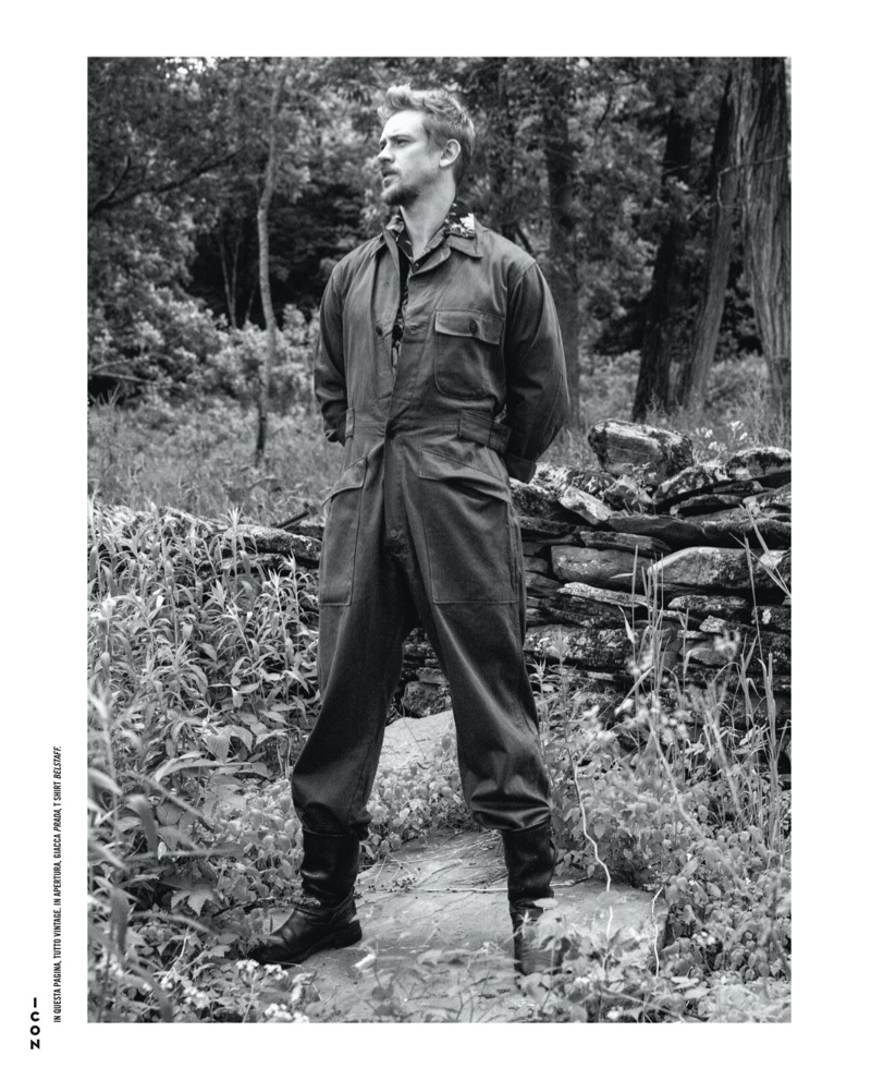 Boyd Holbrook Stars in Black & White Icon Italia Cover Shoot