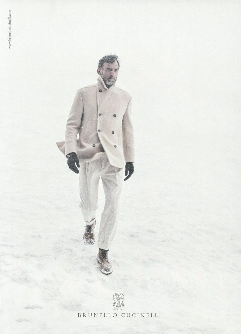 Alain Gossuin stars in Brunello Cucinelli's fall-winter 2019 campaign.