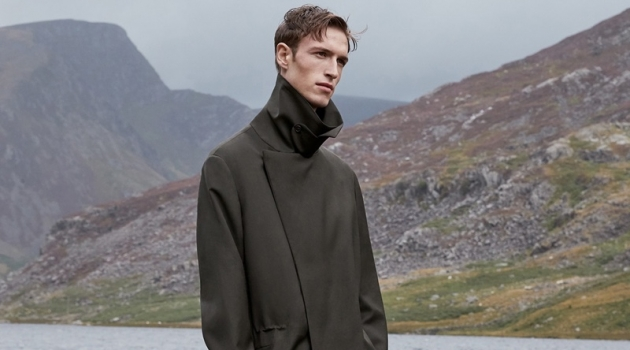 Egon Van Praet dons a statement fall coat from COS.