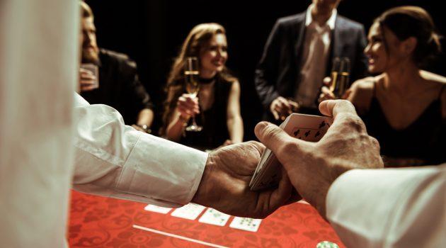 Casino Dealer Shuffling Cards