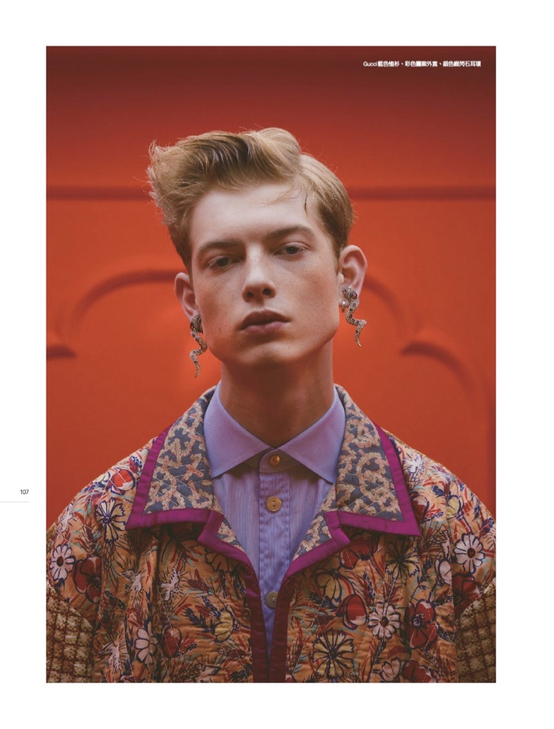 Denis Embraces Dandy Style in Gucci for Men's Uno Hong Kong