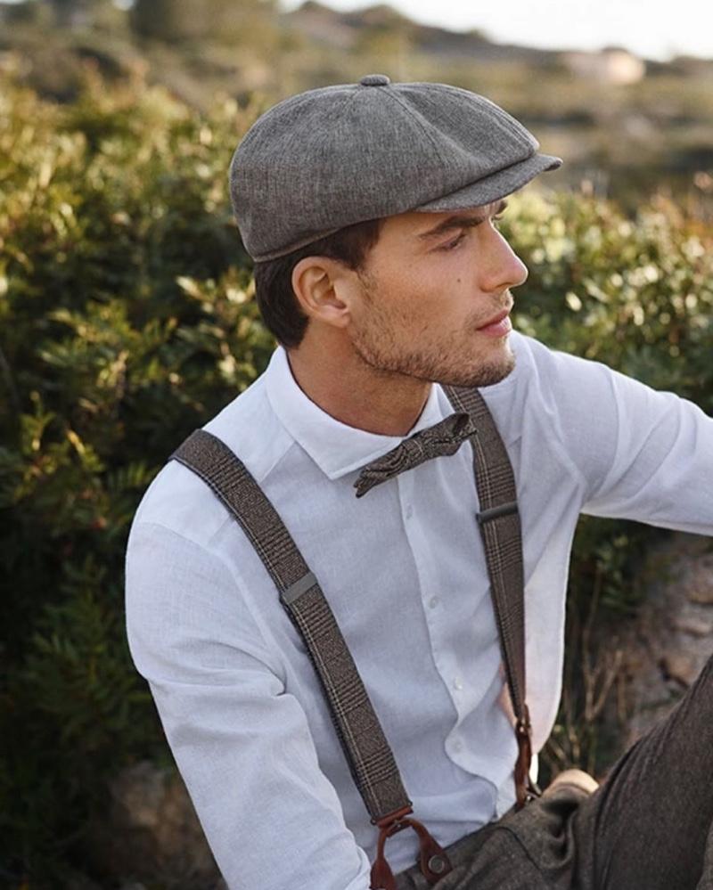 Embracing vintage-inspired style, Nikola Jovanović wears Digel Ceremony.