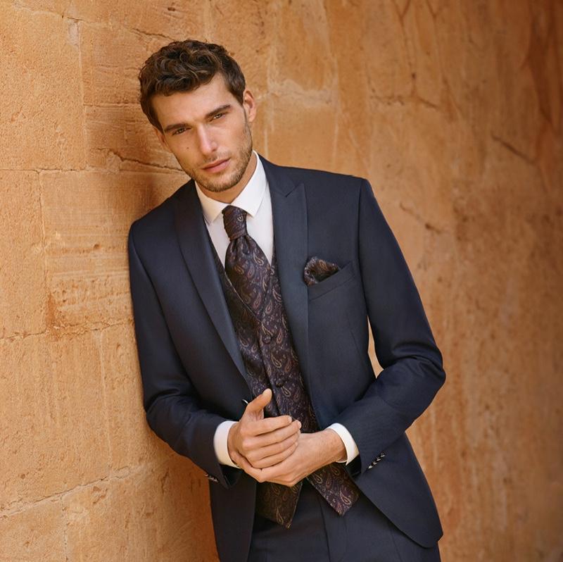 Nikola Jovanović wears a sleek waistcoat and suit from Digel Ceremony.