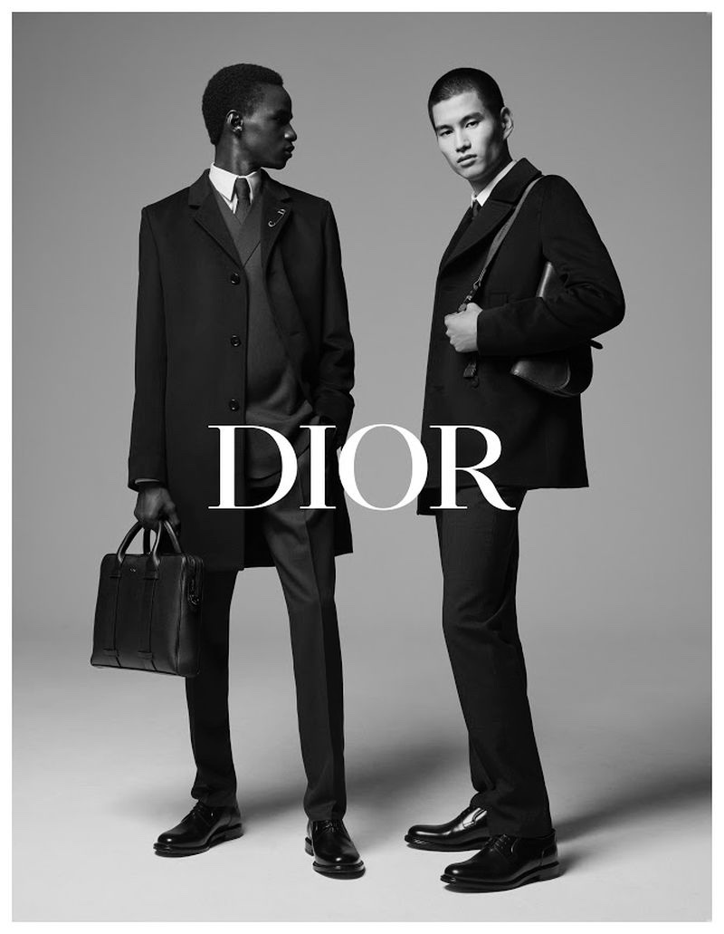 Malick Bodian and Kohei Takabatake suit up for Dior Men's fall-winter 2019 tailoring campaign.