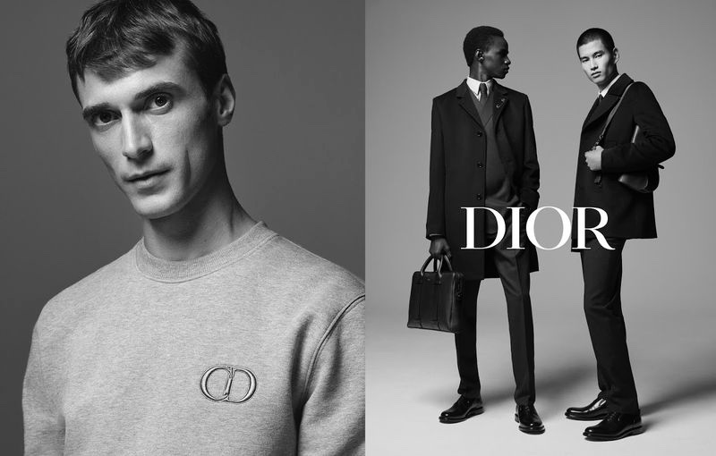 Brett Lloyd photographs Clément Chabernaud, Malick Bodian, and Kohei Takabatake for Dior Men's fall-winter 2019 tailoring campaign.
