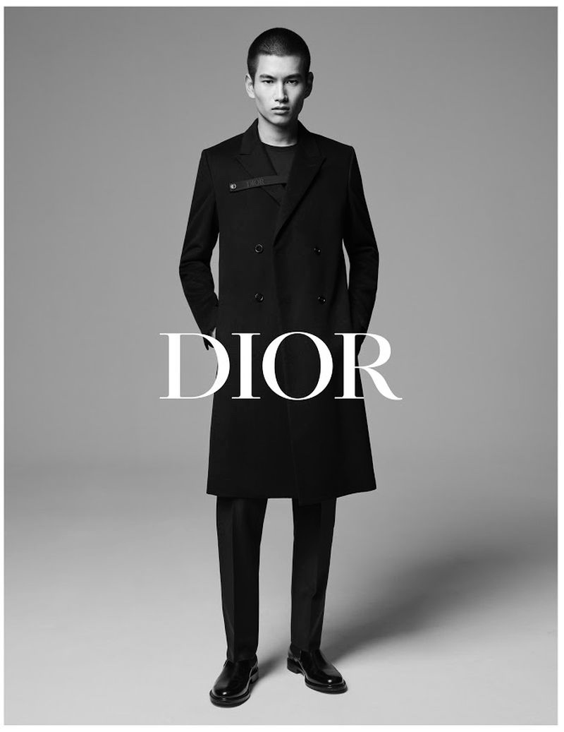Kohei Takabatake is a sharp vision for Dior Men's fall-winter 2019 tailoring campaign.
