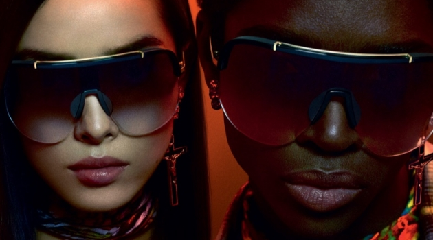 Fei Fei Sun and Alton Mason star in Dsquared2's fall-winter 2019 eyewear campaign.