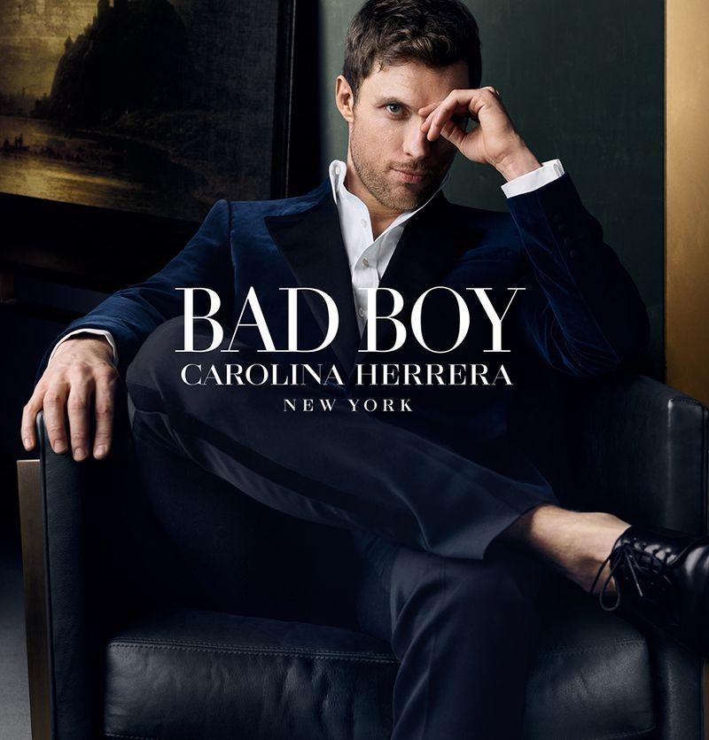Actor Ed Skrein fronts the new fragrance campaign for Carolina Herrera Bad Boy.