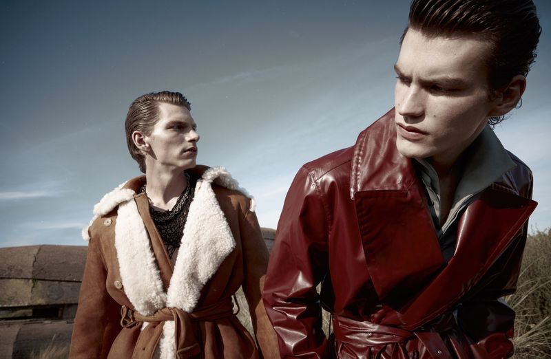 Elias & Erik Cover Debut Issue of Numéro Homme Netherlands