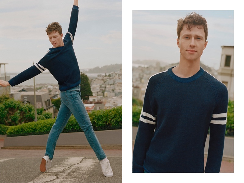 Ben Freemantle appears in Esprit's fall 2019 campaign.