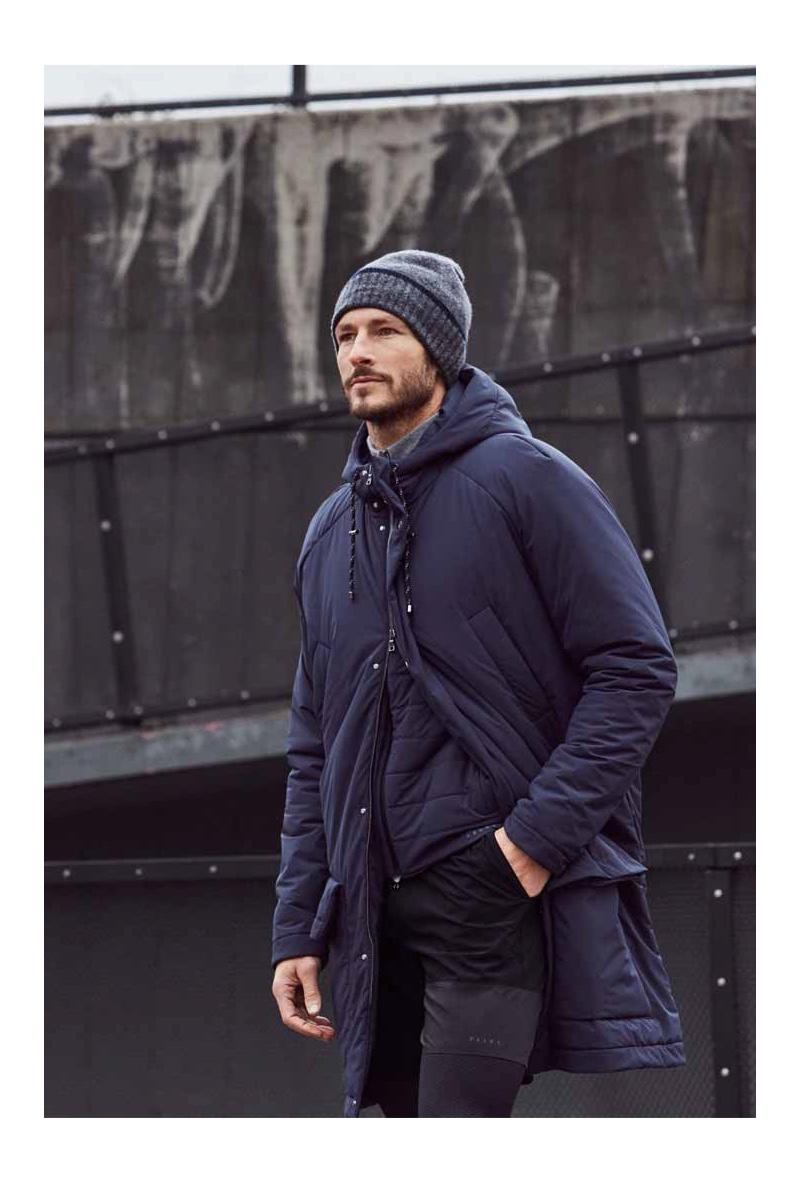 Dressed for the cold weather, Parker Gregory wears Falke Sport.