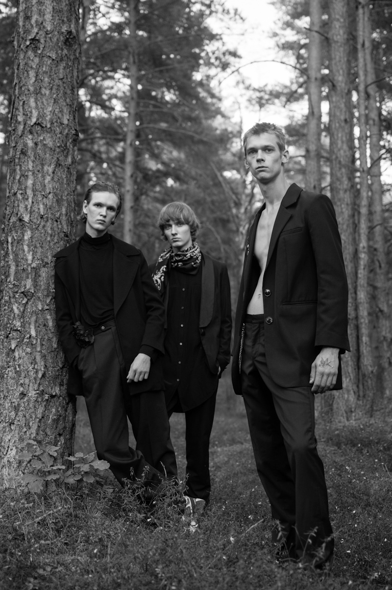 Fashionisto Exclusive: Matīss Gailums, Karlis Leiboms, and Kristers Krumins photographed by Benoit Auguste