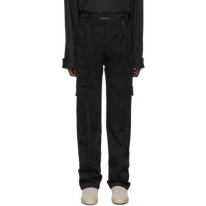 Fear of God Black Baggy Cargo Pants