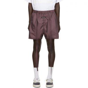 Fear of God Burgundy Military Physical Training Shorts