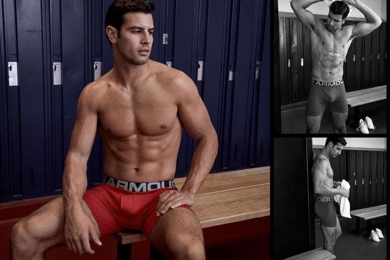 Gregory Vaughan photographs Franky Cammarata in Under Armour underwear.