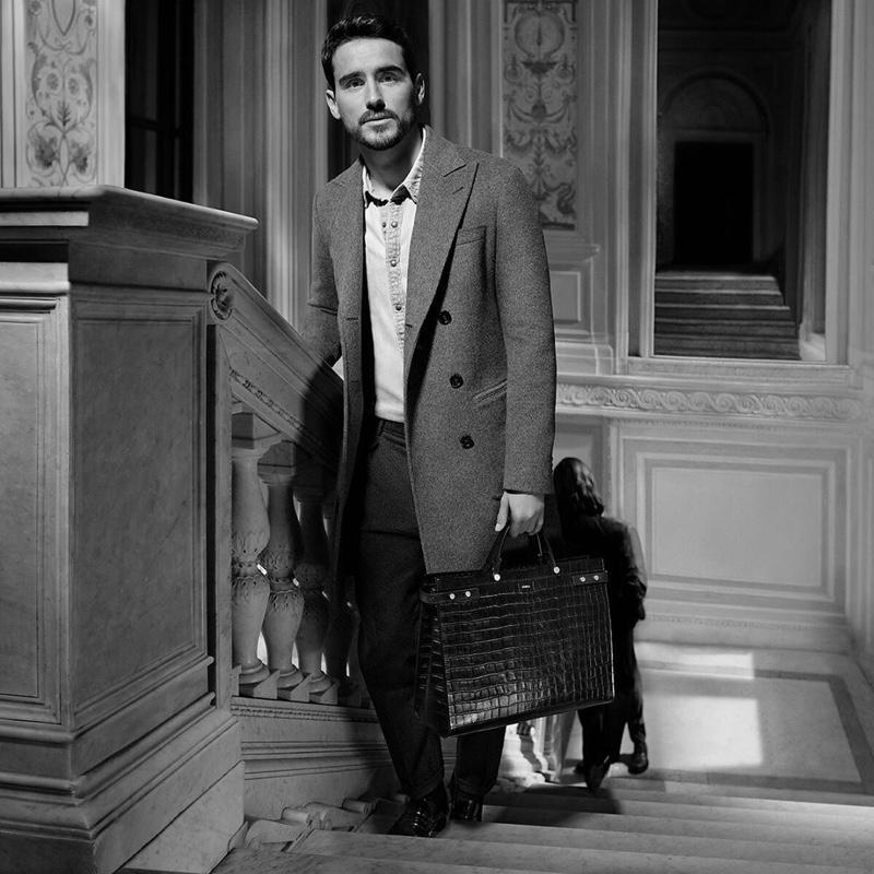 Arthur Kulkov stars in Furla's fall-winter 2019 campaign for its Mercurio bag.