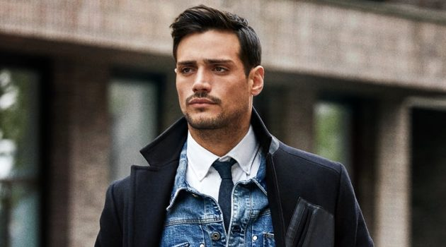 Out for a stroll, Richard Deiss fronts G-Star Raw's Tomorrow's Classics campaign.