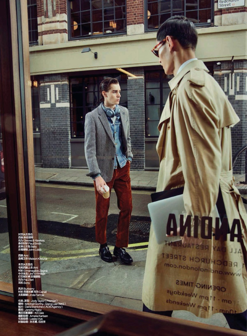 By the Window: Mitchell & Qiang for GQ China
