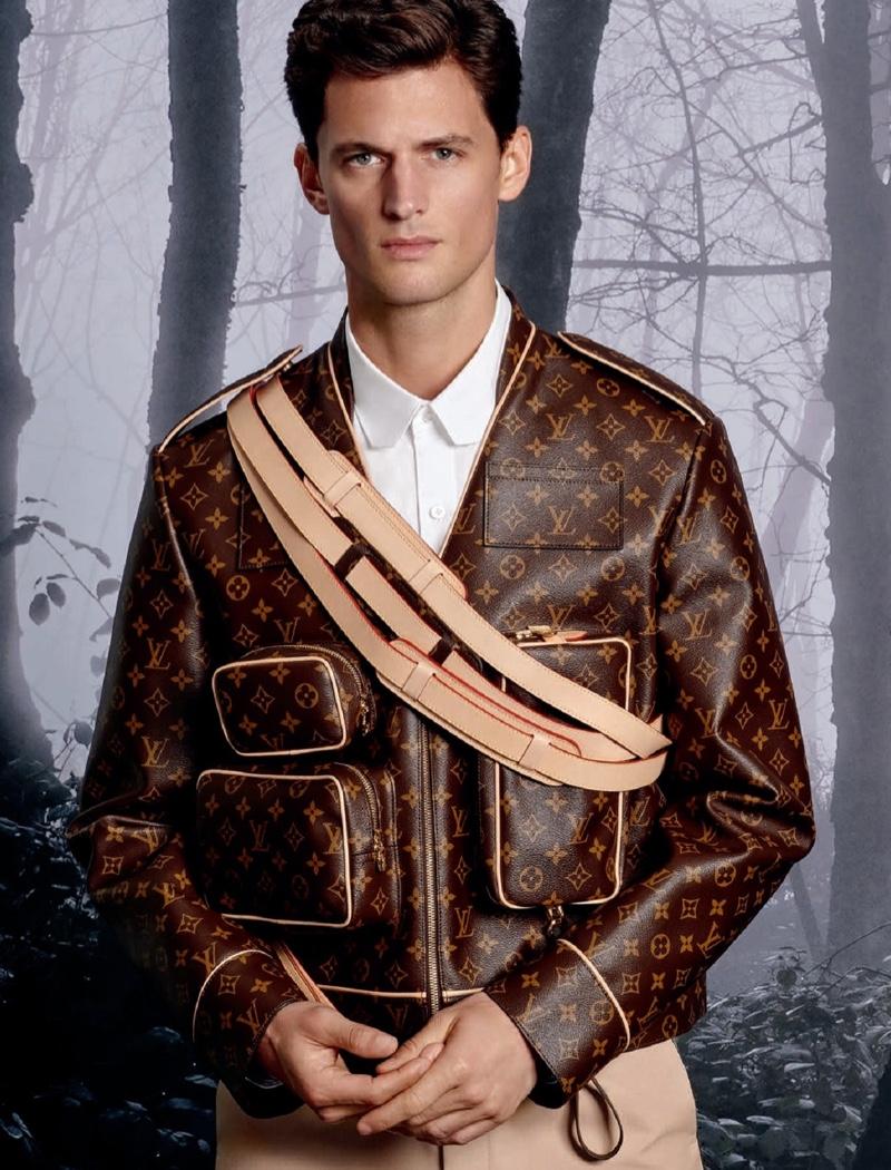 Garrett Neff wears a fall-winter 2019 look from Louis Vuitton for Holt Renfrew.
