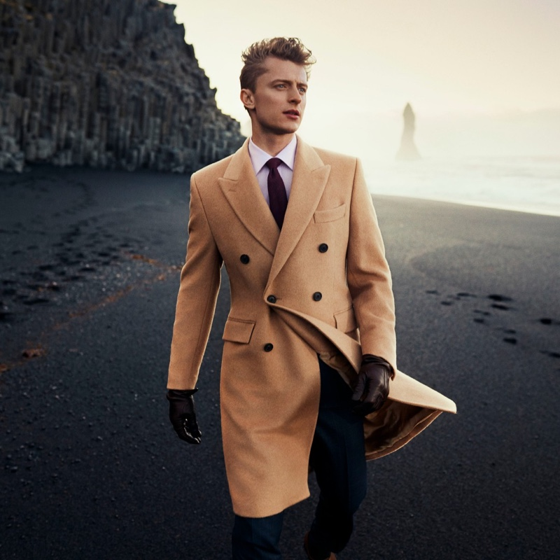 Max Rendell stars in Gieves & Hawkes' fall-winter 2019 campaign.