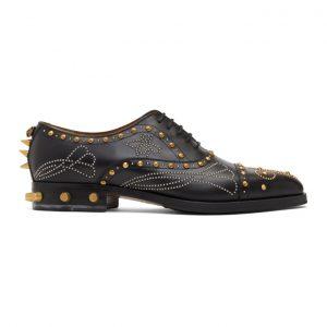 Gucci Black Studded Brogues