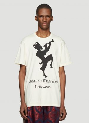 Gucci Chateau Marmont T-Shirt in Neutral size S