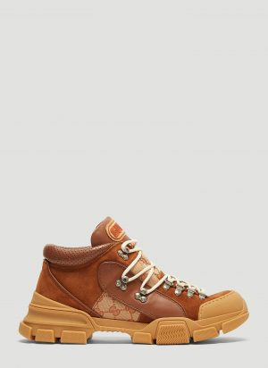 Gucci Flashtrek GG High-Top Sneaker in Brown size UK - 10
