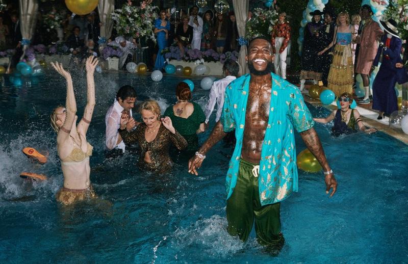 All smiles, Gucci Mane stars in Gucci's resort 2020 campaign.