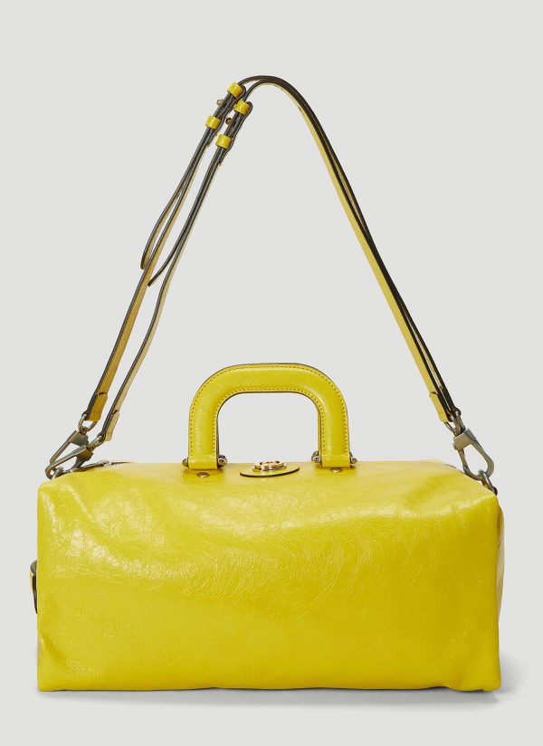 Gucci Soft Leather Backpack In Yellow Size One