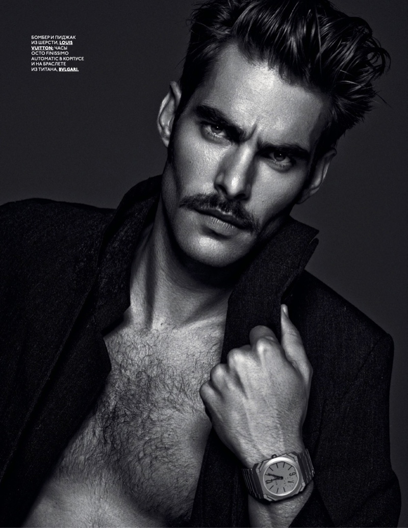 Jon Kortajarena stars in an editorial for the pages of GQ Style Russia.