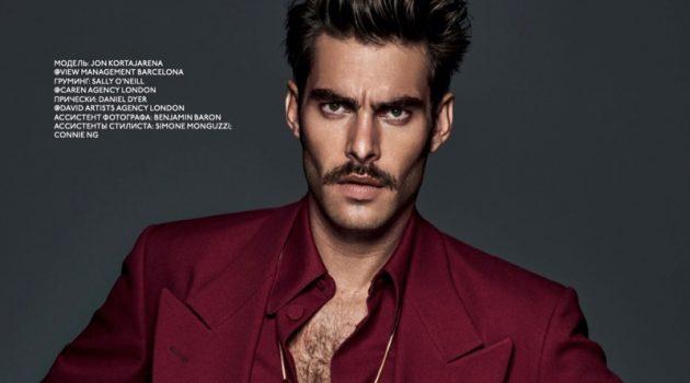 Jon Kortajarena Sports Bold Fall Fashions for GQ Style Russia
