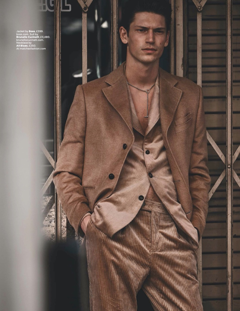 Boujee in Beige: Justin Eric Martin for British GQ