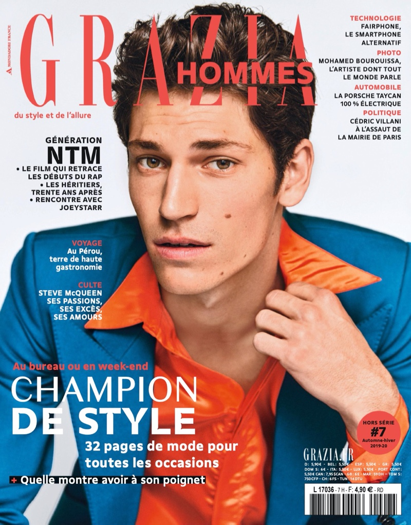 Justin Eric Martin Inspires in Grazia Hommes Cover Story