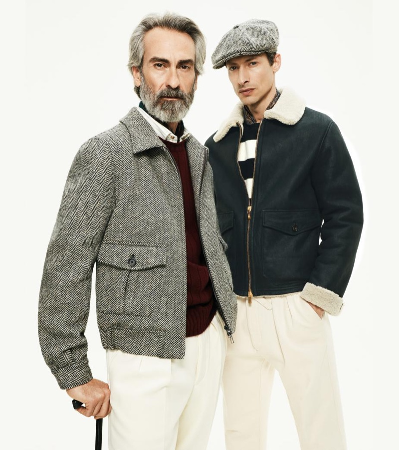 Miguel Angel Gallardo and Jonas Mason appear in Lardini's fall-winter 2019 campaign.