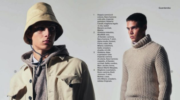 Federico & Mattia Look Towards Winter with Esquire Italia