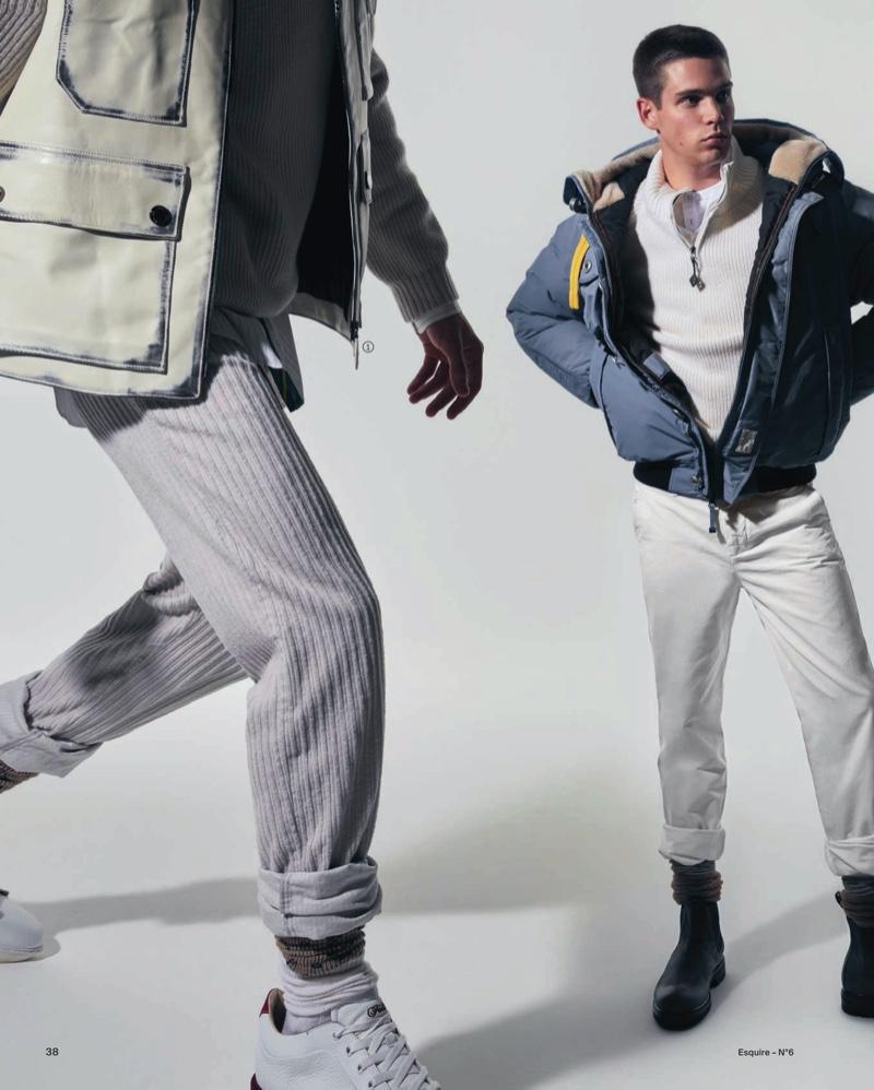 Federico & Mattia Look Towards Winter with Esquire Italia