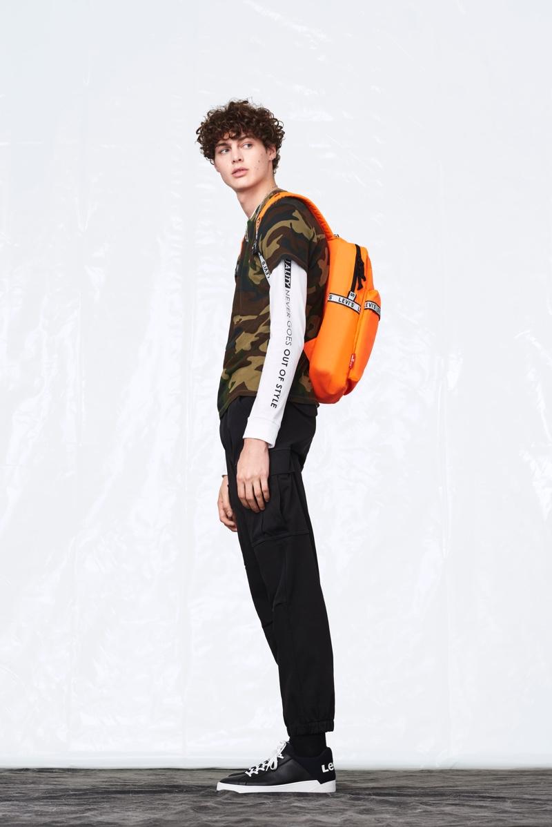 Levi's enlists model Darwin Gray to star in its fall-winter 2019 men's lookbook.