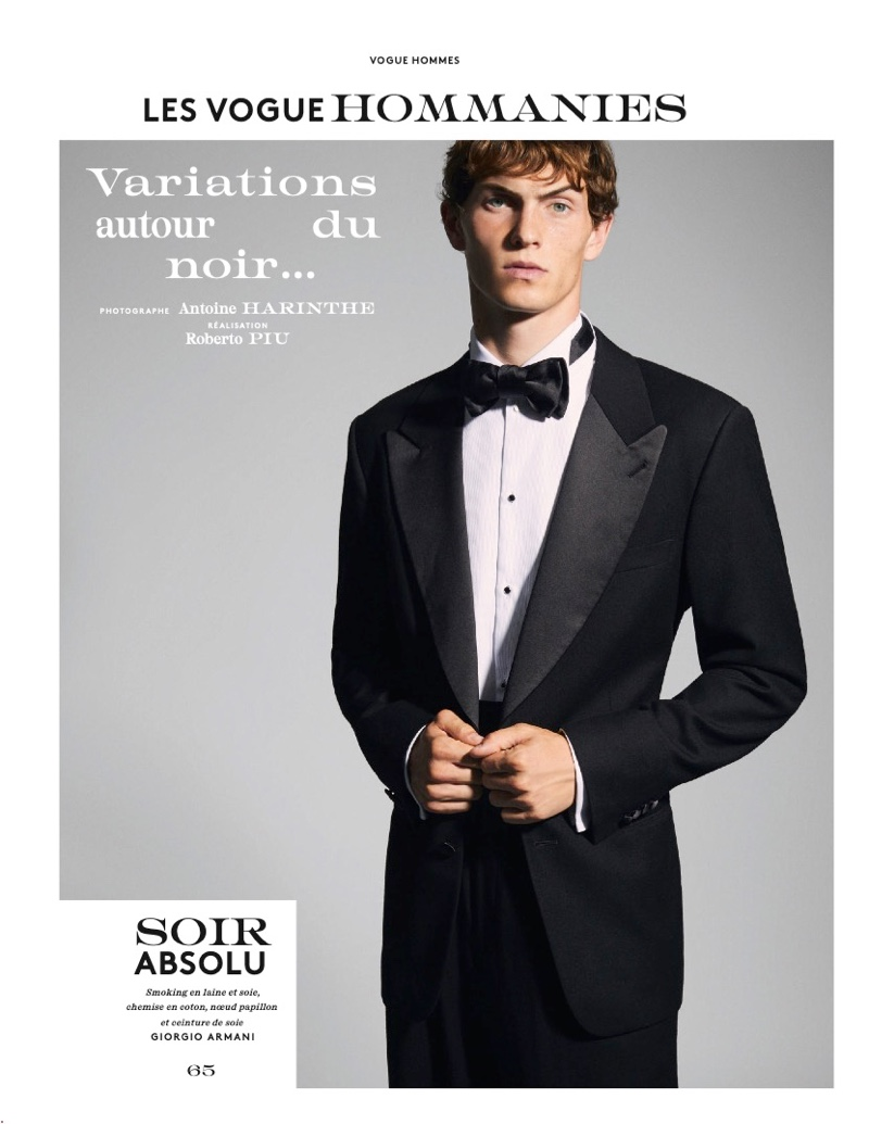 Luc Defont-Saviard Makes a Case for Black with Vogue Hommes Paris