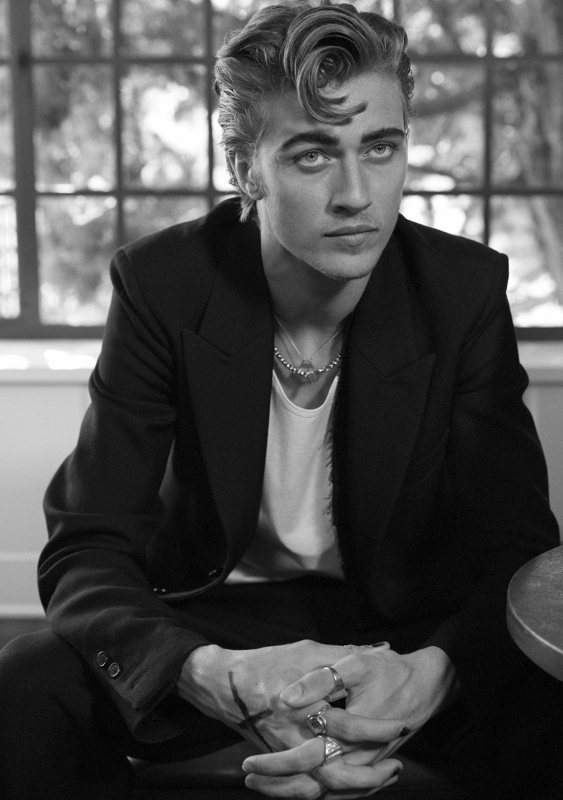 Lucky Blue Smith stars in an editorial for L'Officel Brasil.
