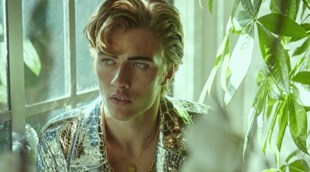 Lucky Blue Smith Goes Bold & Glam for L'Officiel Brasil