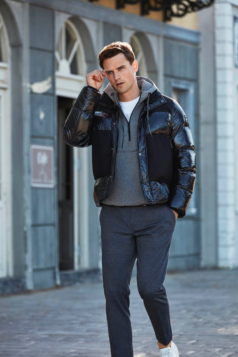 Embracing easy city style, Guy Robinson wears Lufian.