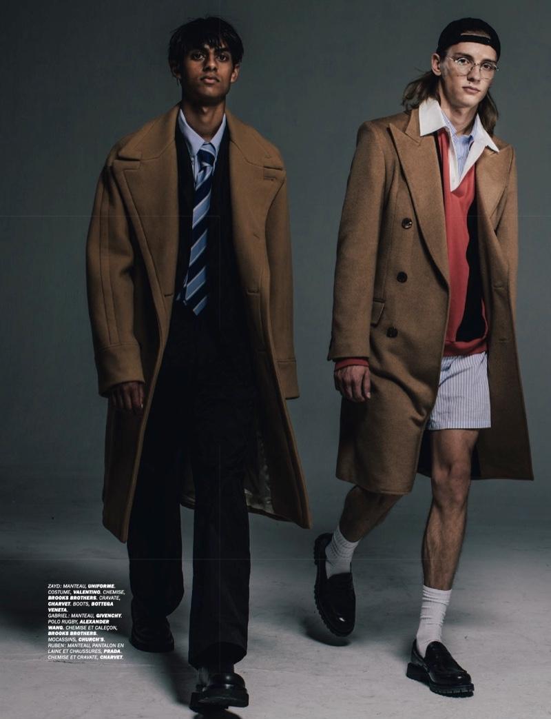 Vestiaire: Ruben, Zayd & Gabriel Get Smart for Lui Magazine