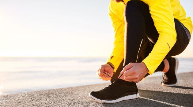 Man Black Running Shoes