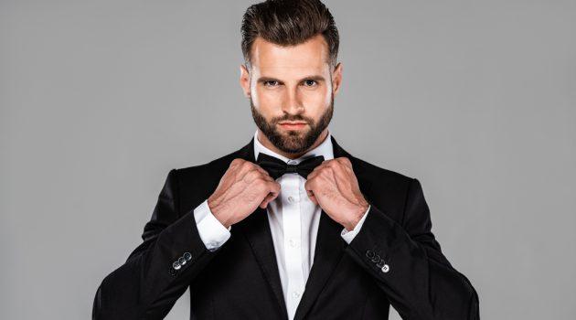 Man Black Tie Style Bow-Tie