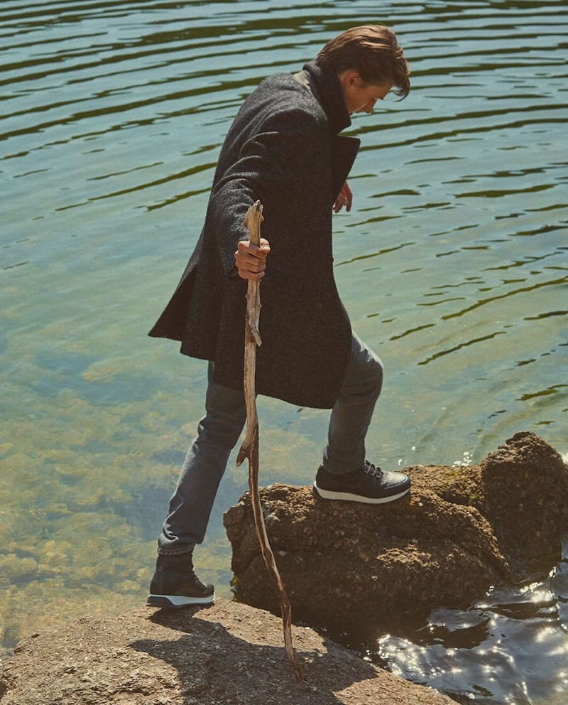 Elements: Finnlay Davis Ventures Outdoors with Massimo Dutti