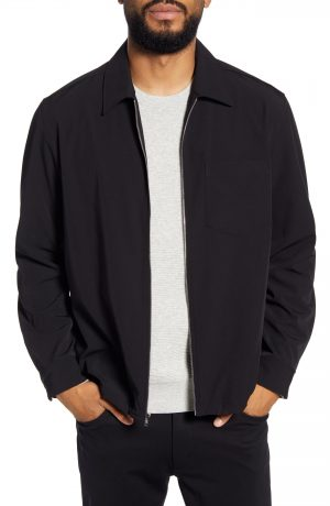 Men's Club Monaco Elas Lightweight Shirt Jacket, Size X-Small - Black