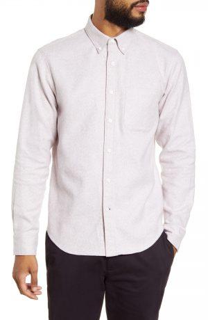 Men's Club Monaco Jaspe Button-Down Shirt, Size Medium - Blue