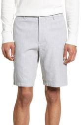 Men's Club Monaco Maddox Leaf Slim Fit Shorts, Size 31 - Grey